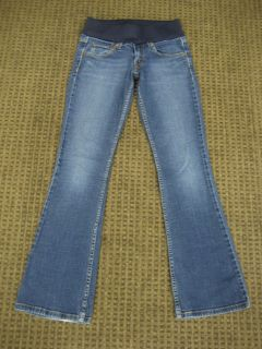 Levi Strauss Maternity Jeans Stretch Bootcut Medium Blue Jeans Size 1