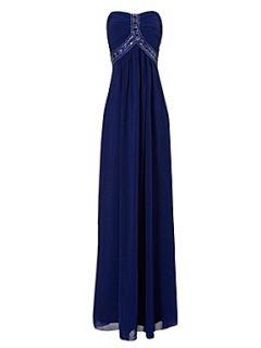 Jane Norman Gem bandeau maxi dress Blue