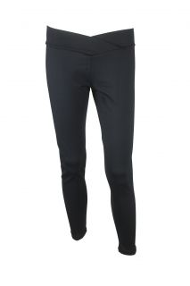 David Lerner Womens Black Helena Stretch Foldover Waist Legging Pants