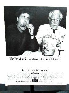 1967 Jerry Lewis for Kentucky Fried Chicken Ad KFC A55 14X11