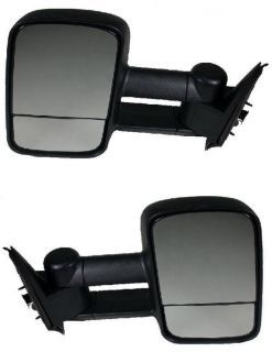 Towing Mirror w Split Glass Chevy GMC LH RH
