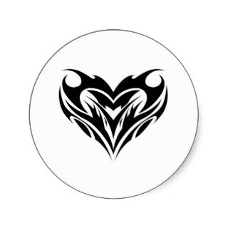 Tribal Heart Design Sticker