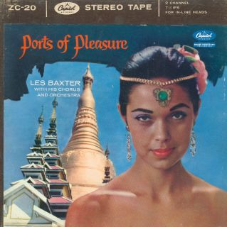 Reel to Reel Tape 2 Track Les Baxter Ports of Pleasure 7½