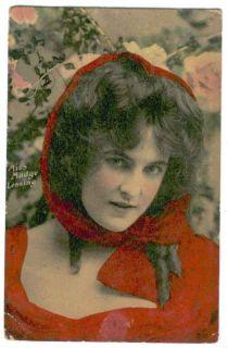 UK Edwardian Actress Madge Lessing 1909 Postcard