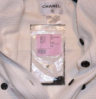 Brand new Chanel black/white Lesage tweed jacket with fabulous etched