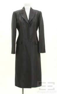 Lida BADAY Midnight Blue Peaked Lapel Button Front Jacket Size 6