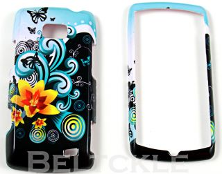 Butterfly Flowers LG Ally VS740 Hard Case Phone Cover