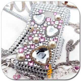 Bling Rhinestone Crystal Hard Case Cover LG Ally VS740