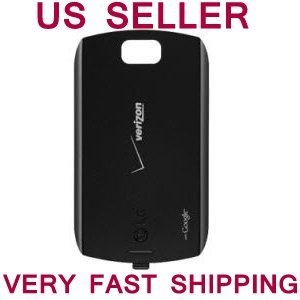 LG VS740 ALLY Verizon Standard ORIGINAL Black Battery Door Back Cover