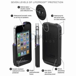 Lifeproof iPhone 4 4S Case Cover Life Proof 2nd Gen White New in