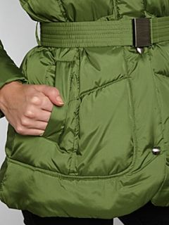 Andrew Marc Padded coat with faux fur hood Green