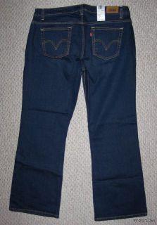 Levis 515 Bootcut Stretch Dark Jeans Plus Size 20 M