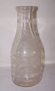 Lewes Dairy Milk Bottle Quart Embossed Brittingham Son Delaware