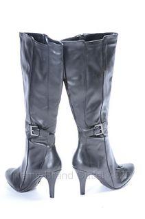 Naturalizer Natural Soul 6 M Leslie Boot Black Buckle Heel Shoe