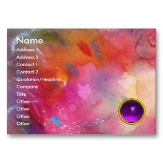 AMETHYST, bright red blue pink purple Business Card