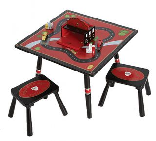 Levels of Discovery Kids Firefighter Table Chair Stool