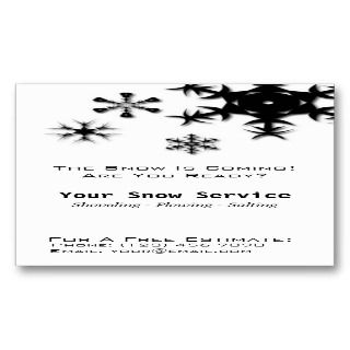 Removal, Snow Plowing Verical Black and Whi Business Card emplaes
