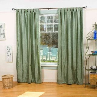 Olive Green   Tab Top Velvet Curtain / Drape / Panel 43 X 84 Inches