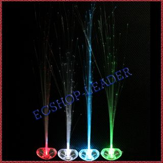 fiber optic hair extension clips glow blue red white green light up