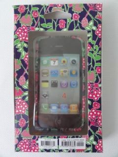 Lilly Pulitzer iPhone 4G 4GS Navy Bloomers Mobile Cell Phone Cover