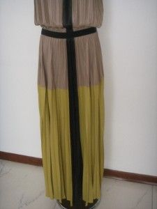 BCBG Max Azria Lilyan Strapless Color Blocked Dress