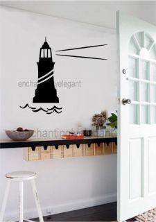 Lighthouse Vinyl Decal Wall Sticker Beach Ocean Decor Office Living