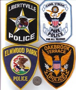 Illinois Police Department Patch Carol Stream Park Police Officer