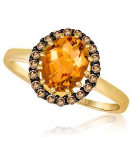 Le Vian 14k Gold Ring, Citrine (1 1/2 ct. t.w.) and Diamond (1/4 ct. t