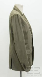 Cucinelli Mens Olive Green Cotton Lightweight Jacket Size XL