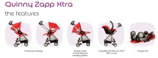 Quinny Zapp Xtra Compact Lightweight Baby Stroller New