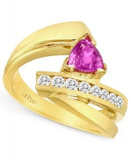 Le Vian 14k Gold Ring, Pink Sapphire (3/4 ct. t.w.) and Diamond (1/3