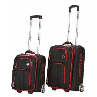 Polo Equipment 2 Piece Lightweight Expandable Luggage Set Black