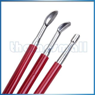 3pcs Stainless Steel Wax Clay Sculpting Tool Carving Pottery Making