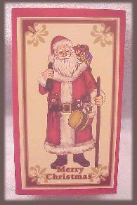 Lillian Vernon Collectible Santa Claus in Wooden Box