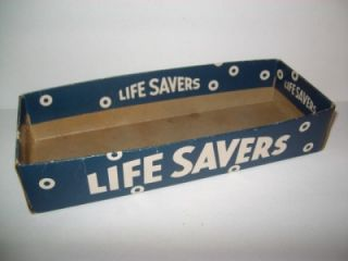 Vintage Cardboard Display Box for Livesavers Roll Candy