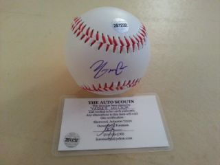 Yadier Molina Cardinals Signed Autograph Baseball w COA