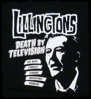 Lillingtons Death by Television T Shirt Official Fast SHIP