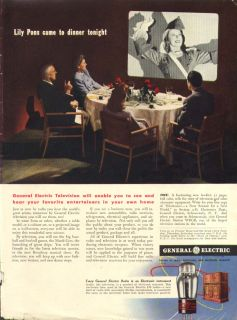 Lily Pons for General Electric Television Ad 1943