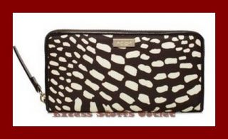 Brown Neda Daycation Lindenwood Safari Zip Around Wallet New