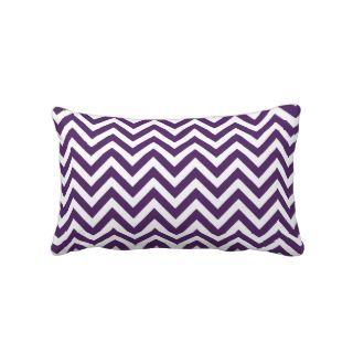 Purple Chevron Lumbar Pillow