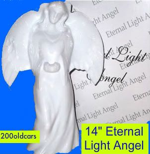 14 Eternal Light Solar Memorial Angel Made for Cemetery or Home
