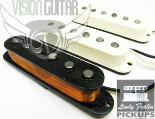 Lindy Fralin Vintage Hot Strat Pickup Set w Bassplate