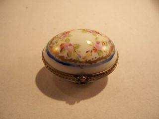 Limoges France Petite Box Porcelain Egg Easter Paris