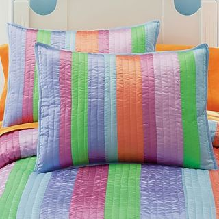 10P Twin Quilt Pink Green Blue Lavender Orange Sheets Val Drapes Girl