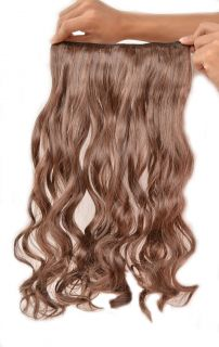 17 Curly Wavy Clip in on Hair Extensions Light Brown 2 30 New