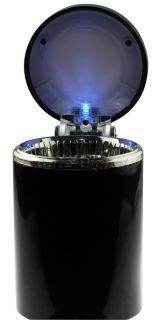 New Black Portable Auto Car LED Light Cigarette Ashtray Holder