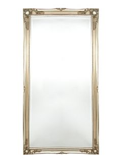 Shabby Chic Baroque moulded champagne leaner mirror