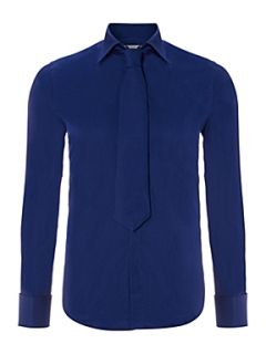 William Hunt Luxury cotton long sleeve formal shirt Blue