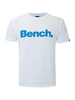 Bench Crew neck corporation printed T shirt White
