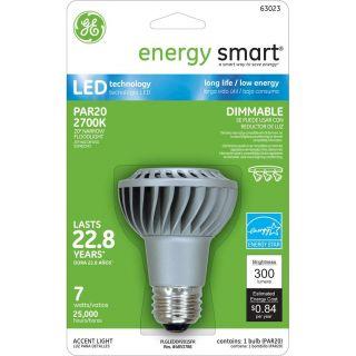 GE 7W 120V E26 PAR20 2700K NFL20 Energy Smart LED Light Bulb